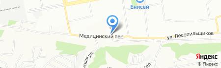 Пчёлка на карте Красноярска