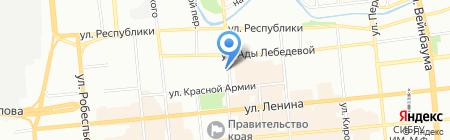 Лингвич на карте Красноярска