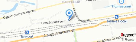 Сокол-Групп на карте Красноярска