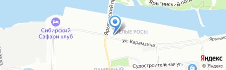 Бурёнка на карте Красноярска