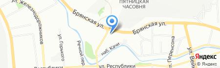 Юпитер на карте Красноярска
