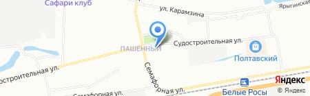 Студия Красиковой на карте Красноярска