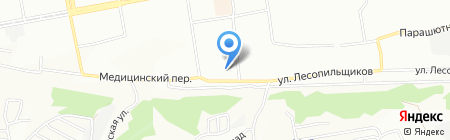 Мясопотам на карте Красноярска