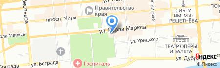 Снежность на карте Красноярска