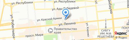 Буузза на карте Красноярска