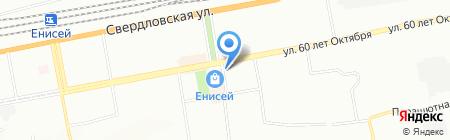 Здрава на карте Красноярска