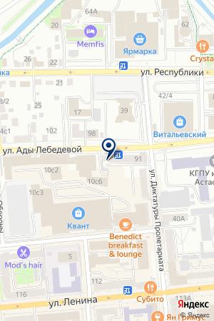 ОО АКАДЕМИЯ ПУТЕШЕСТВИЙ на карте Красноярска