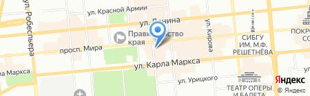 Luck be на карте Красноярска