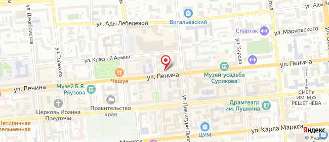 Карта расположения пункта доставки Westfalika в городе Красноярск