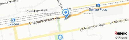 Коровка на карте Красноярска