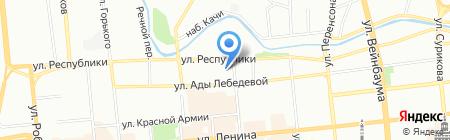 Русские бани на карте Красноярска