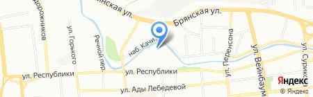 Магазин замков на карте Красноярска