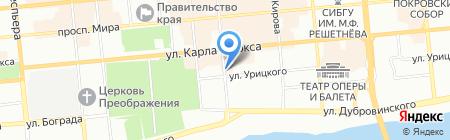 Лека на карте Красноярска
