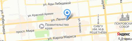 Теплый дом на карте Красноярска