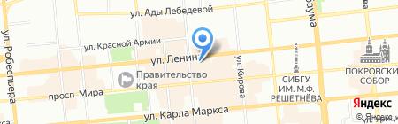Жилищное на карте Красноярска