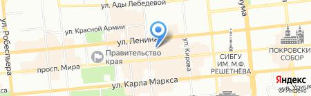 Магазин горящих туров на карте Красноярска