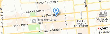 АТЛАНТ на карте Красноярска