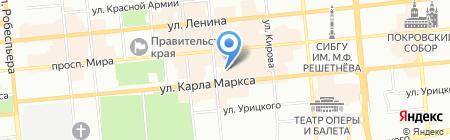 Магазин радиотоваров на карте Красноярска