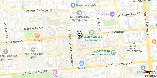 АГЕНТСТВО ЛЕГИОНЕР на карте Красноярске