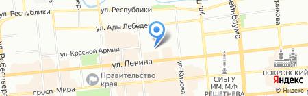 Путь к себе на карте Красноярска