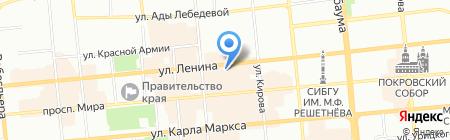 Индустрия отдыха на карте Красноярска