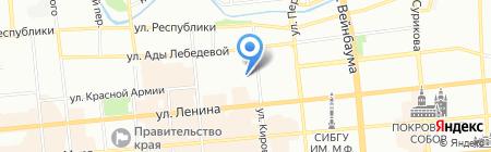 Атлантис на карте Красноярска