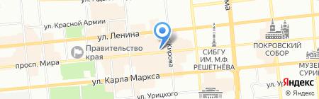 Е2 на карте Красноярска