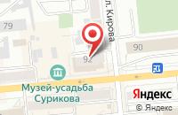 Схема проезда до компании Компас Тур в Красноярске