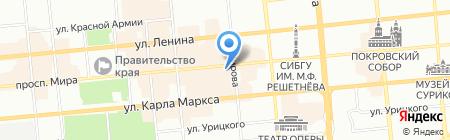 Слетать.ру на карте Красноярска