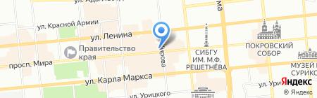 Арго на карте Красноярска