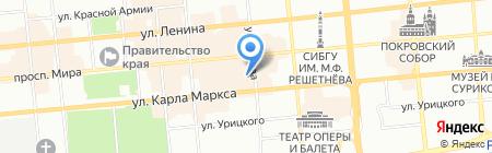Магазин бижутерии и подарков на ул. Кирова на карте Красноярска