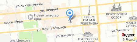 Бизнес-навигатор на карте Красноярска