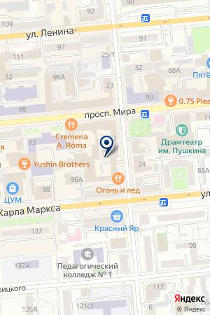 ТУРИСТИЧЕСКАЯ ФИРМА КОЛИБРИ на карте Красноярска
