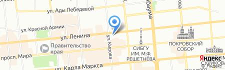 Невское на карте Красноярска