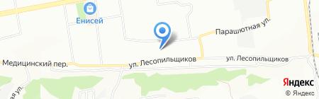 Колосок на карте Красноярска