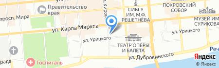 Крассталкер на карте Красноярска