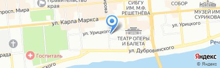 Амели-тур на карте Красноярска