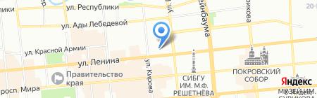 Автошкола на карте Красноярска