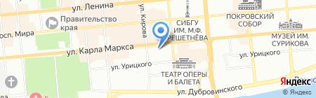 Конди на карте Красноярска