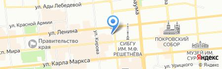 UNA на карте Красноярска