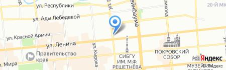 Киоск по изготовлению ключей на карте Красноярска