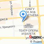 Суши Терра на карте Красноярска