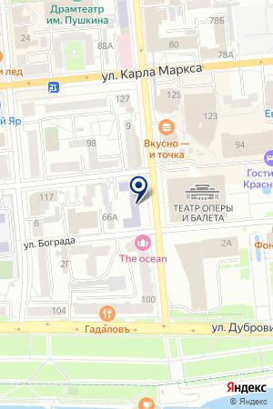 ГОУ ФИЗИКИ И ИНФОРМАТИКИ ИНСТИТУТ МАТЕМАТИКИ на карте Красноярска
