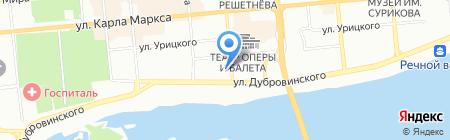 Домет на карте Красноярска