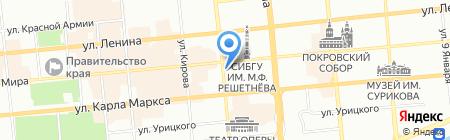 Султан-Сулейман на карте Красноярска