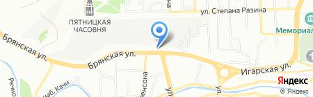 АЗС 25 часов на карте Красноярска