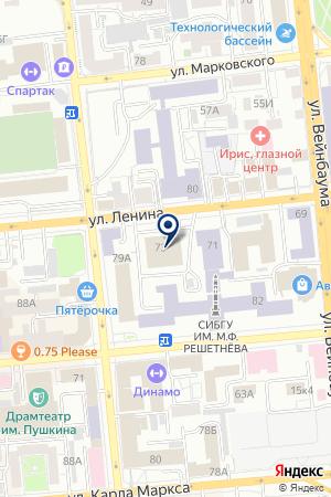 САЛОН-МАГАЗИН КОВРЫ ИЗ ЕГТА,ЛЮСТРЫ ИЗ ЕВРОПЫ на карте Красноярска