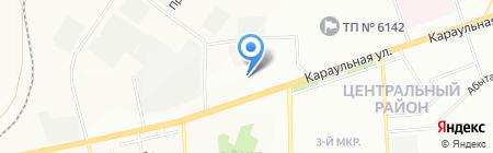 СТК на карте Красноярска