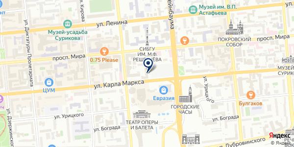 ОХРАННО-ПОЖАРНАЯ ФИРМА ОГНЕБОРЕЦ на карте Красноярске