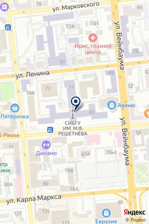 БУХГАЛТЕОРИЯ СИБИРСКИЙ ГОСУДАРСТВЕННЫЙ ТЕХНОЛОГИЧЕСКИЙ УНИВЕРСИТЕТ на карте Красноярска